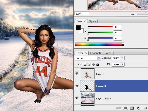 Design A Very Hot Winter Composition in Photoshop for Beginners - Photoshop Tutorials Lorelei Web Design