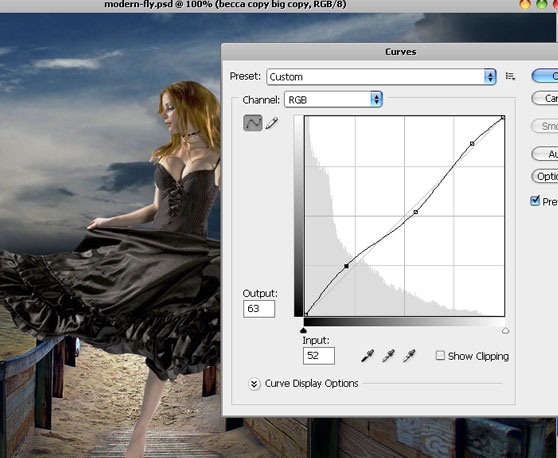 Design Surreal Composition Fallen Angel's Dream Fly - Photoshop Tutorials Lorelei Web Design