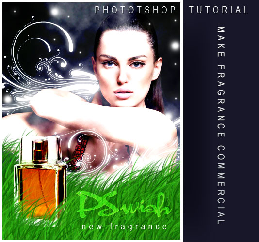 Tutorial: Make Perfume Commercial in Photoshop - perfume poster design