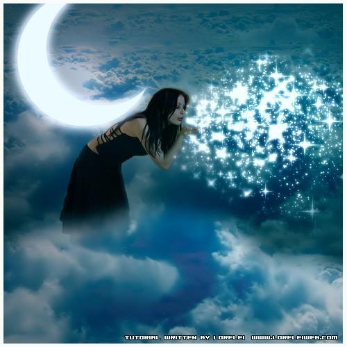 Photoshop Tutorial - Christmas Fairy Magic - Fantasy Art - stars Lorelei Web Design