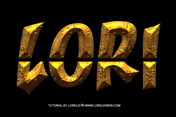 Photoshop Tutorial - Ancient Rough Gold Effect, Perfect for Game Logos and Text - Downloads Lorelei Web Design
