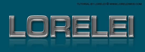 Embossed and Curved Metal Text Effect - Photoshop Tutorials Lorelei Web Design