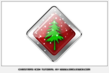Design a High Resolution Christmas Glossy Icon - Photoshop Tutorials Lorelei Web Design