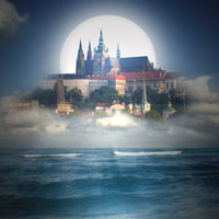 Design Heavenly Castle Illusion Photo Manipulation
