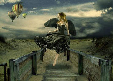 Design Surreal Composition Fallen Angel's Dream Fly - PSD Lorelei Web Design
