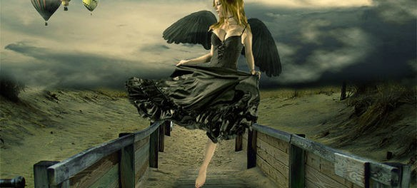 Design Surreal Composition Fallen Angel's Dream Fly - Photoshop Tutorials Lorelei Web Design