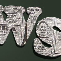 Design a 3D Newspaper Cropped Text Effect