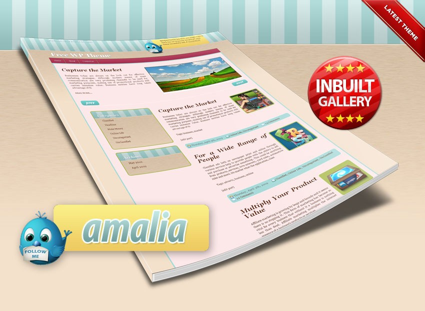 Amalia Sweet Free Wordpress Theme for Our Readers - Blog Lorelei Web Design