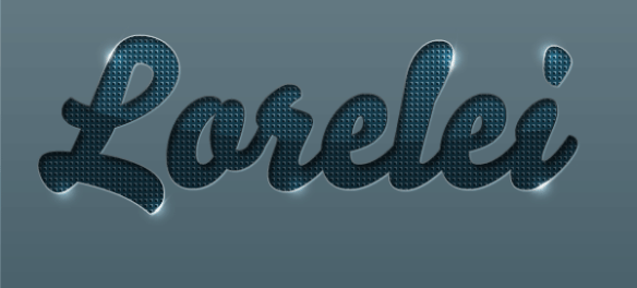 Designed Stylish Embossed Text with Metallic Glow - Photoshop Tutorials Lorelei Web Design