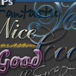 Download Fantastic Collection of Photoshop Styles - Text Effects for Calligraphy