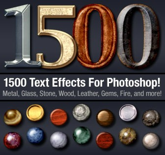 Download 1500 Photoshop Text Effects For Only $19 - Photoshop Tutorials Lorelei Web Design
