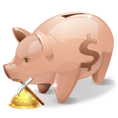 Piggie Bank Wordpress Theme - For Gold Diggers - Blog Lorelei Web Design