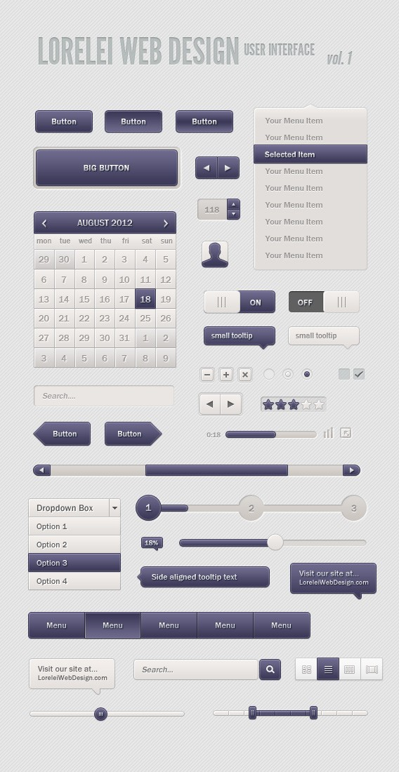 Download Our First Edition of User Interface - Premium Downloads Lorelei Web Design