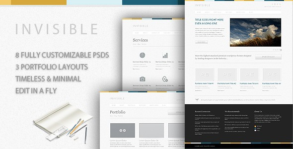New Premium Download - Full 8 Pages PSD Website Template - Premium Downloads Lorelei Web Design