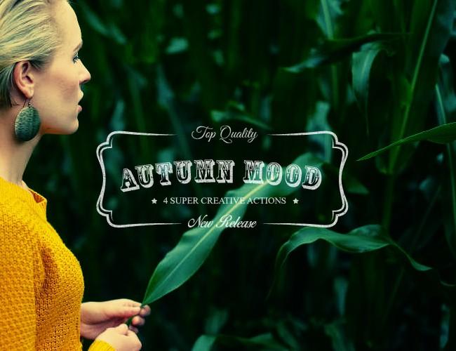 Autumn Mood - 4 Premium Photoshop Actions - Premium Photoshop Actions Lorelei Web Design