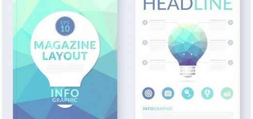 free-abstract-polygonal-magazine-layout-vector