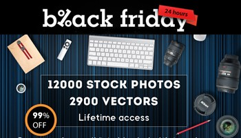 Super Black Friday - Get 12000 Stock Photos and 2900 Vectors for only $25 - Blog Lorelei Web Design