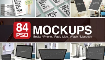 84 PSD Mockups with Books and Apple Devices - Blog Lorelei Web Design