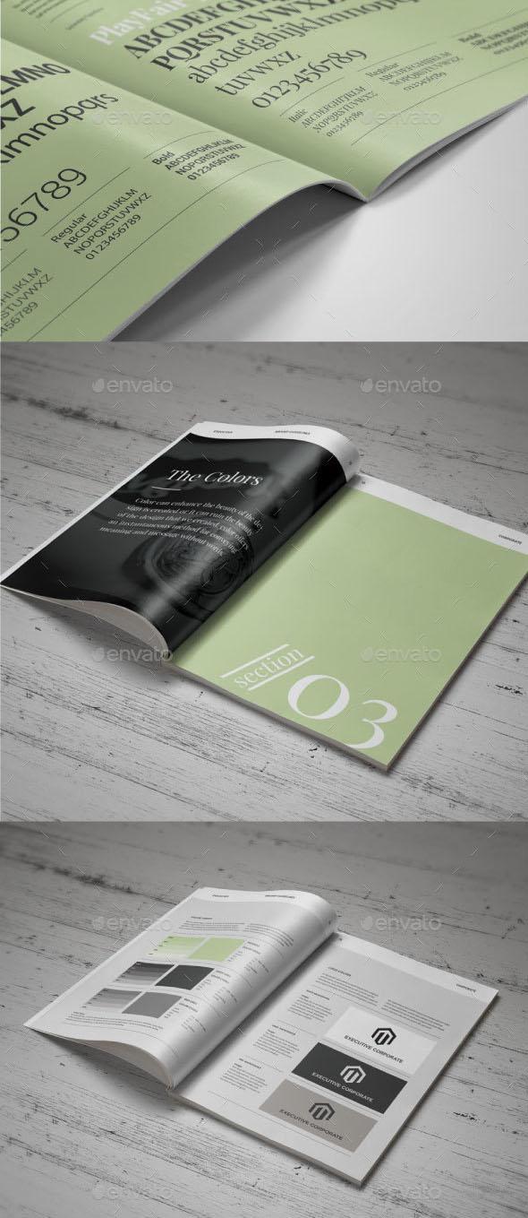 5 Modern Corporate Brand Guideline Templates - Blog Lorelei Web Design