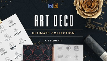 Download Art Deco Ultimate Collection - Only 100 copies available - Web Graphics & UI Lorelei Web Design