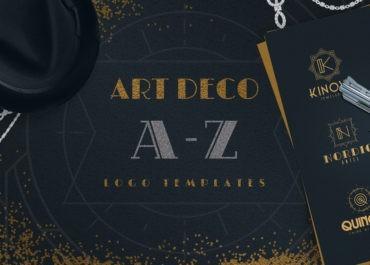 Super Awesome Art Deco A-Z Logo Templates Bundle - Blog Lorelei Web Design