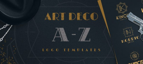 Super Awesome Art Deco A-Z Logo Templates Bundle - Blog Lorelei Web Design