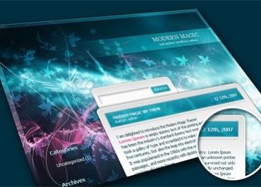 Modern Magic - Free WordPress Theme - Free WordPress Themes Lorelei Web Design