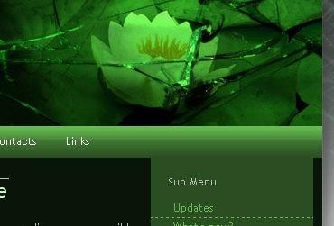 Broken Glass - XHTML tableless template - Blog Lorelei Web Design