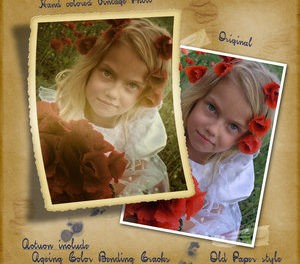 Vintage Frame Photo Effect Action - Photoshop Resources Lorelei Web Design