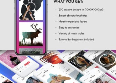 Download the Ultimate Collection of InstaMask for Instagram - Web Graphics & UI Lorelei Web Design