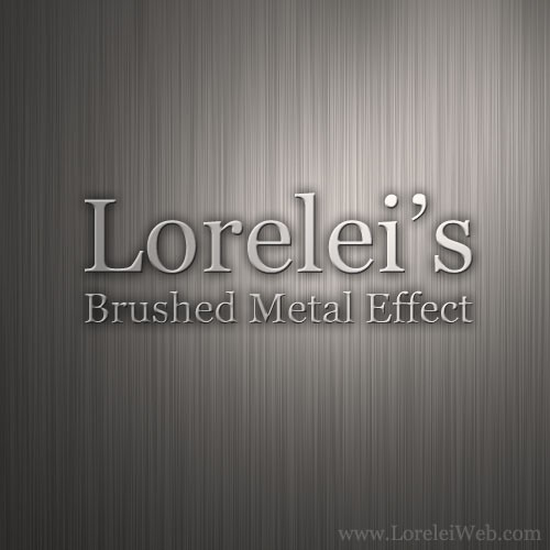 Design a Quick Brushed Metal Interface - Photoshop Resources Lorelei Web Design