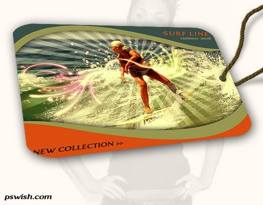 Create A Stylish Surfing Fashion Label Tag - interface Lorelei Web Design
