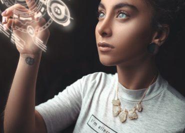 photo of woman wearing turtleneck top