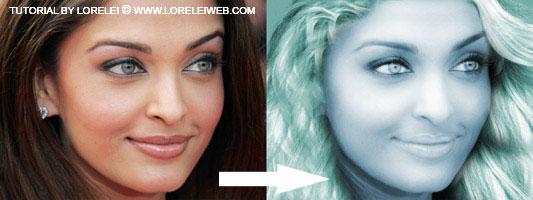 Turn a Brunette Girl Into a Beautiful Mermaid - Photoshop Tutorials Lorelei Web Design