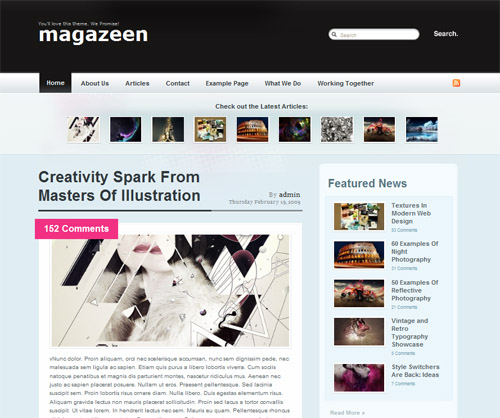 Magazeen in 40 Free High-Quality WordPress Themes