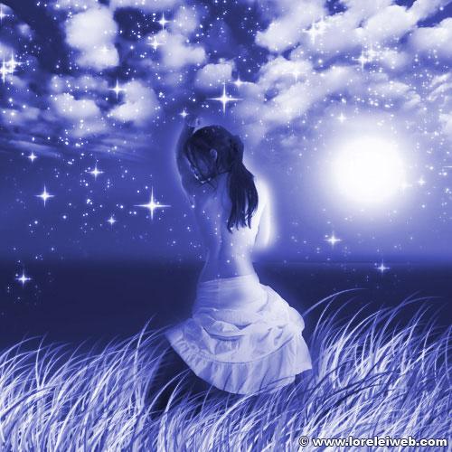 Fantasy Art for newbies – Mysterious moonlit landscape - Photoshop Tutorials Lorelei Web Design