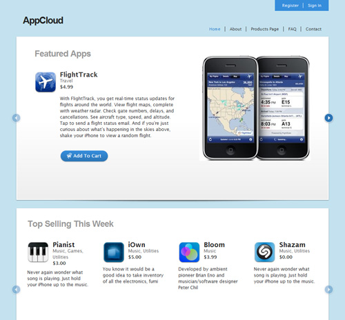 Appcloud in 40 Free High-Quality WordPress Themes