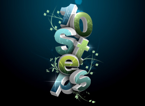 07 in 50 Stunning Photoshop Text Effect Tutorials