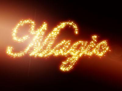 Photoshop Tutorials - Magic glowing sparkles