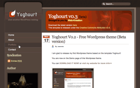 Yough in 100 Excellent Free WordPress Themes