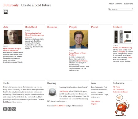 Futurosity807 in 100 Excellent Free WordPress Themes