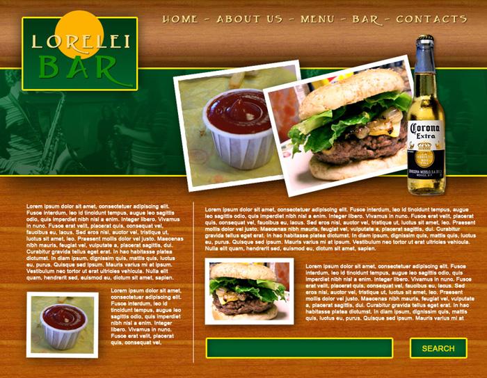 Design a Full Template for Bar Restorant Website Layout – Lorelei ...