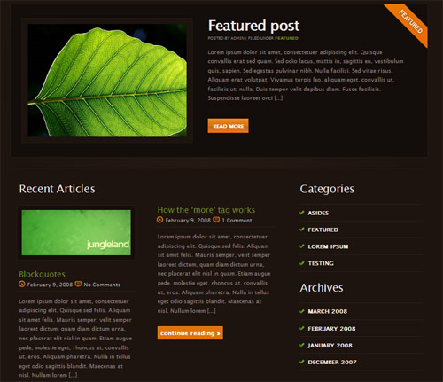 Jungleland-theme in 40 Free High-Quality WordPress Themes