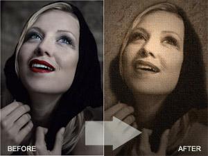 Turn Your Photo Into a Renaissance Style Old Canvas - Photoshop Tutorials Lorelei Web Design